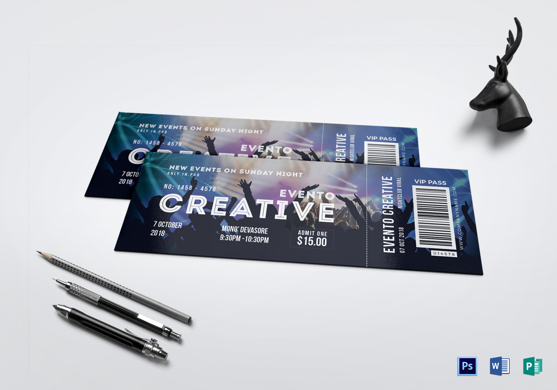 Live Event Ticket Template