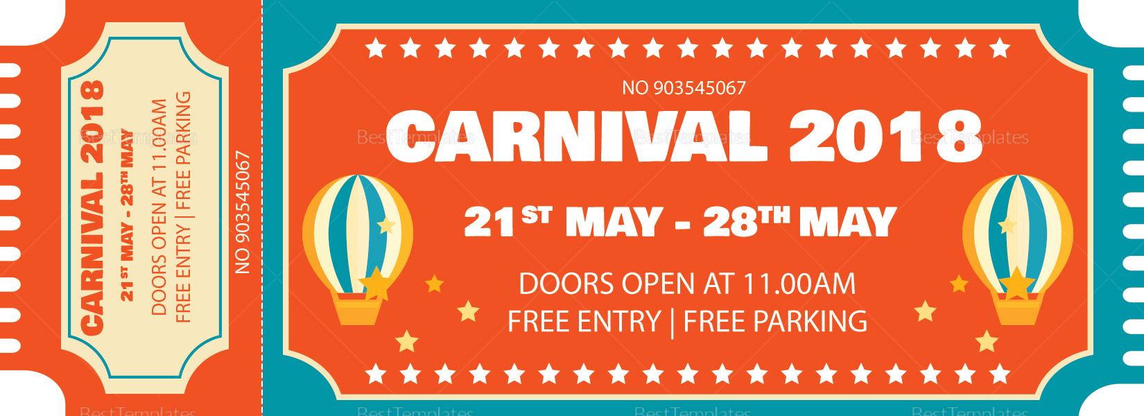 Carnival Event Ticket; Carnival Event Ticket Template  Event Ticket Template