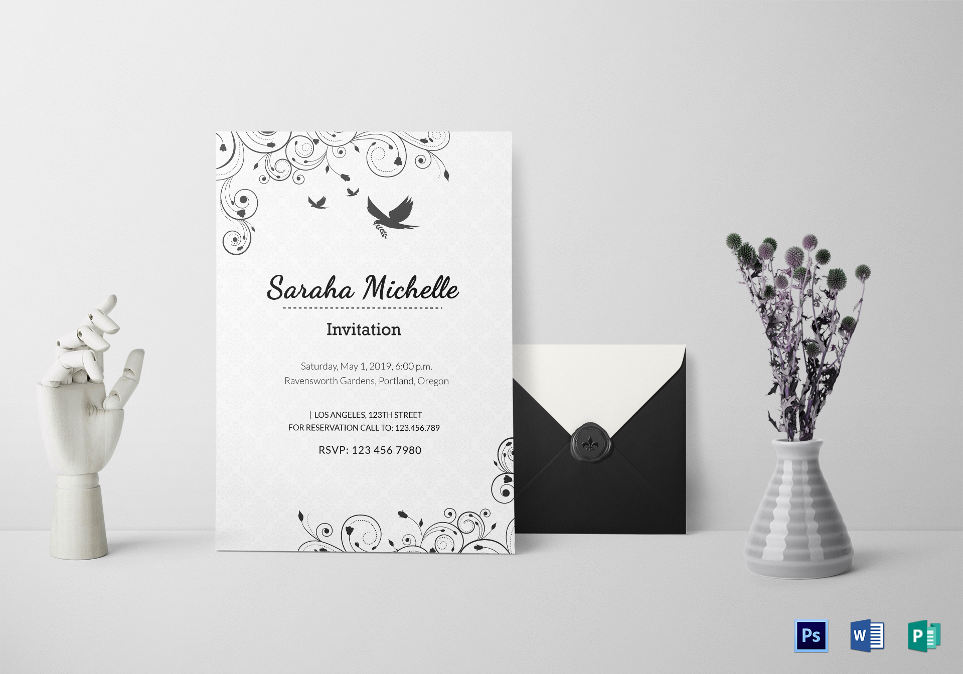 Ornamental Debut Invitation Design Template In Word Psd Publisher