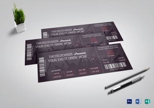 concert ticket designs templates in word psd publisher ipages