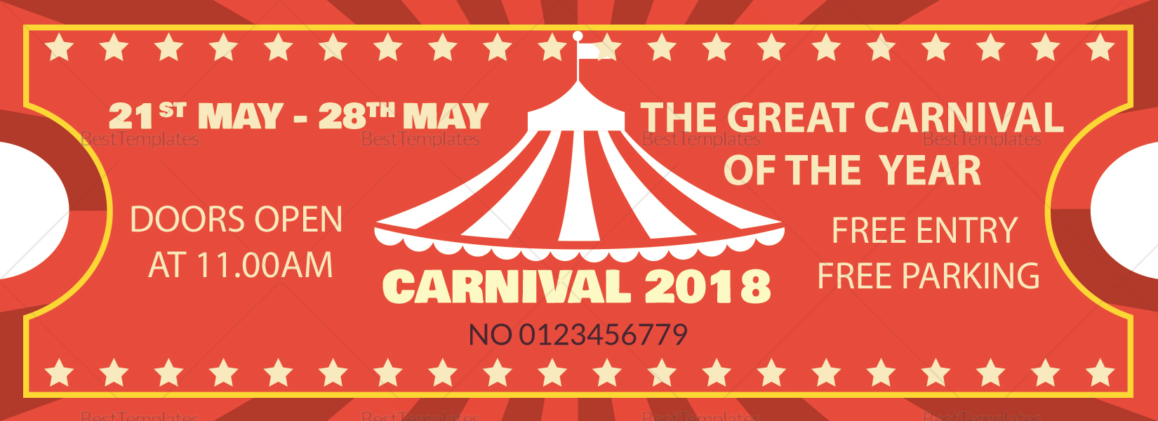 Sample Carnival Ticket Template
