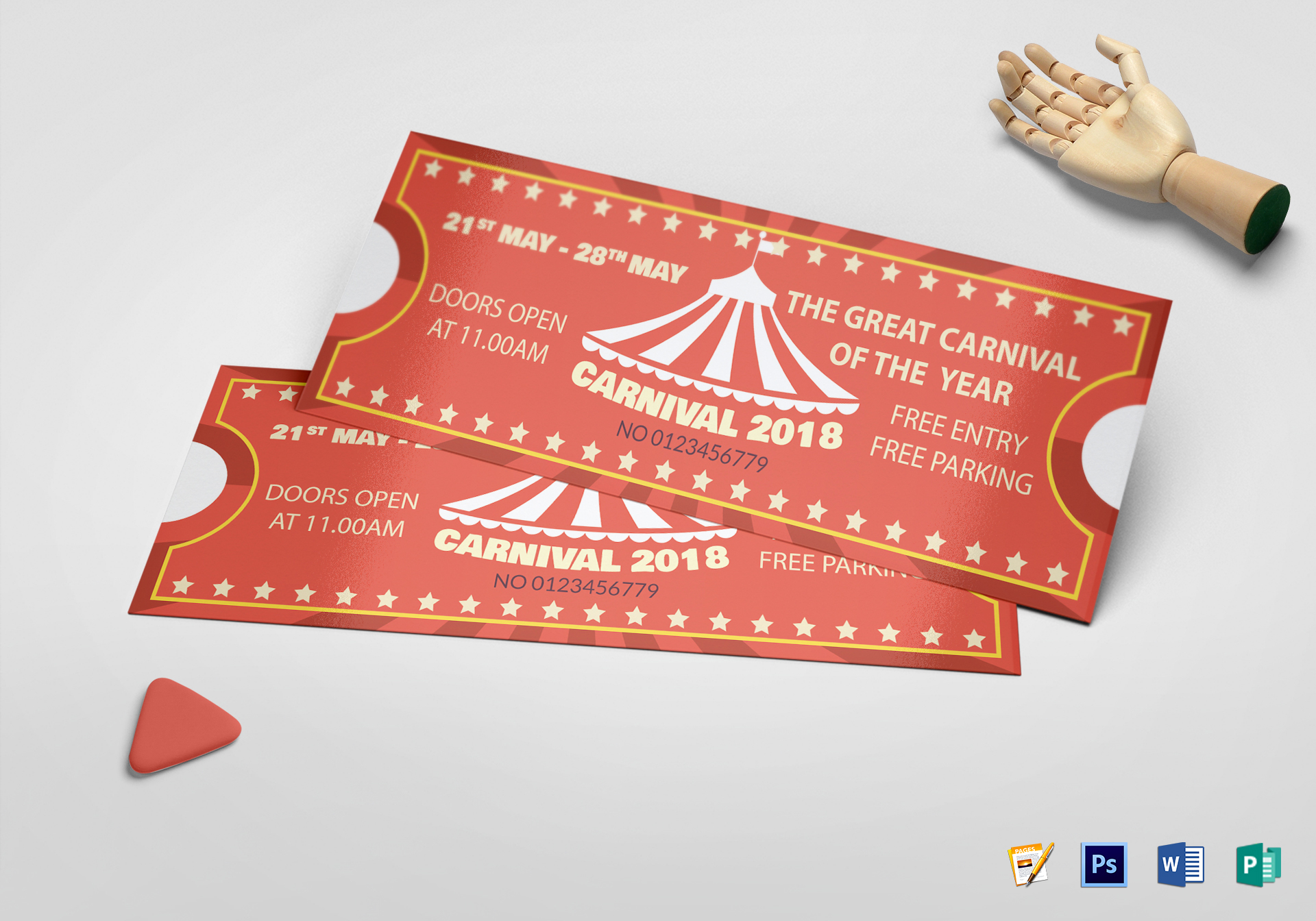 Sample Carnival Ticket