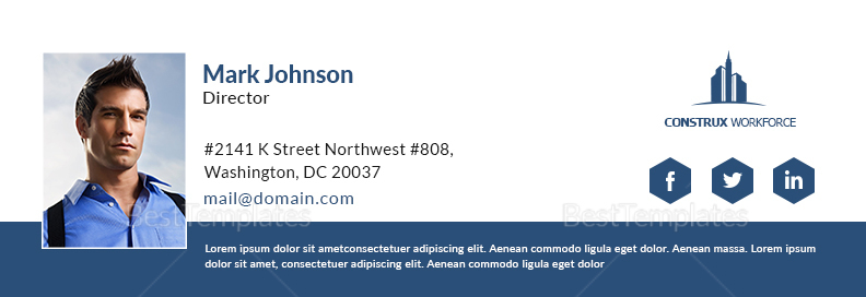 Architecture Director Email Signature Template
