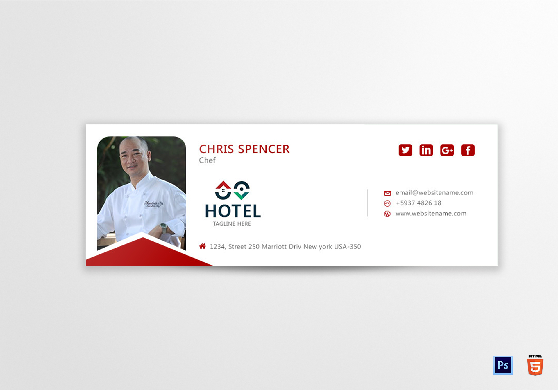 Chef email signature design template in psd html chef email signature template accmission Image collections