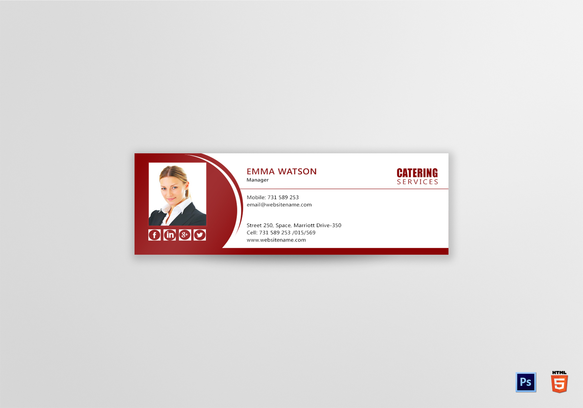Catering Services Email Signature Template