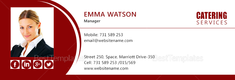Catering Services Email Signature Design Template In Psd Html