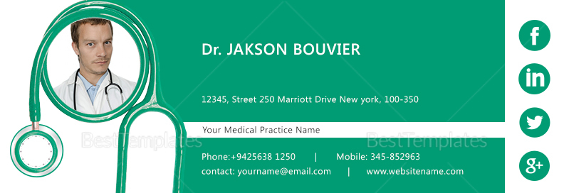 Doctor Email Signature Design Template