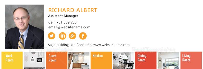 Interior Designer Email Signature Design Template