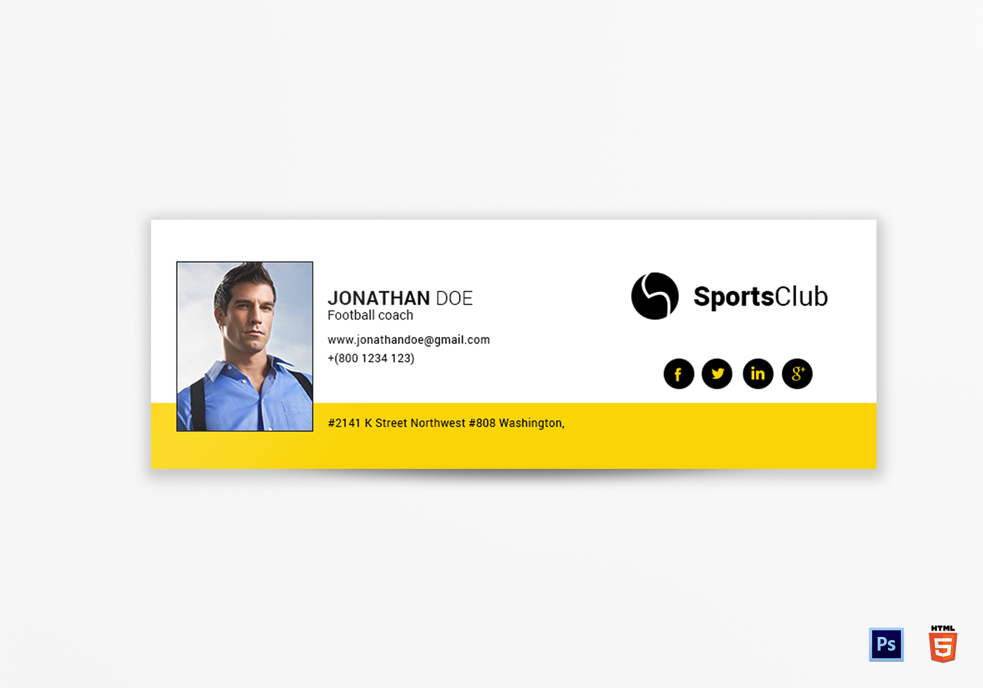 Sports Email Signature Template