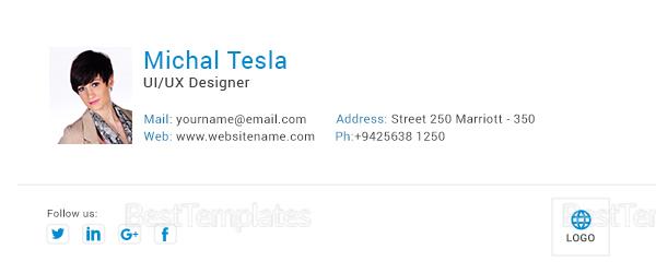 Ux Designer Email Signature Design Template
