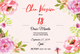 Floral Debut Invitation Template