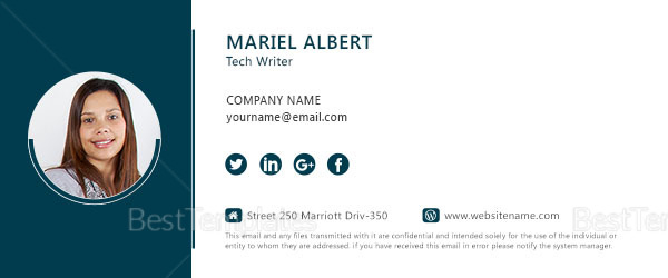 Technical writer Email Signature Design Template