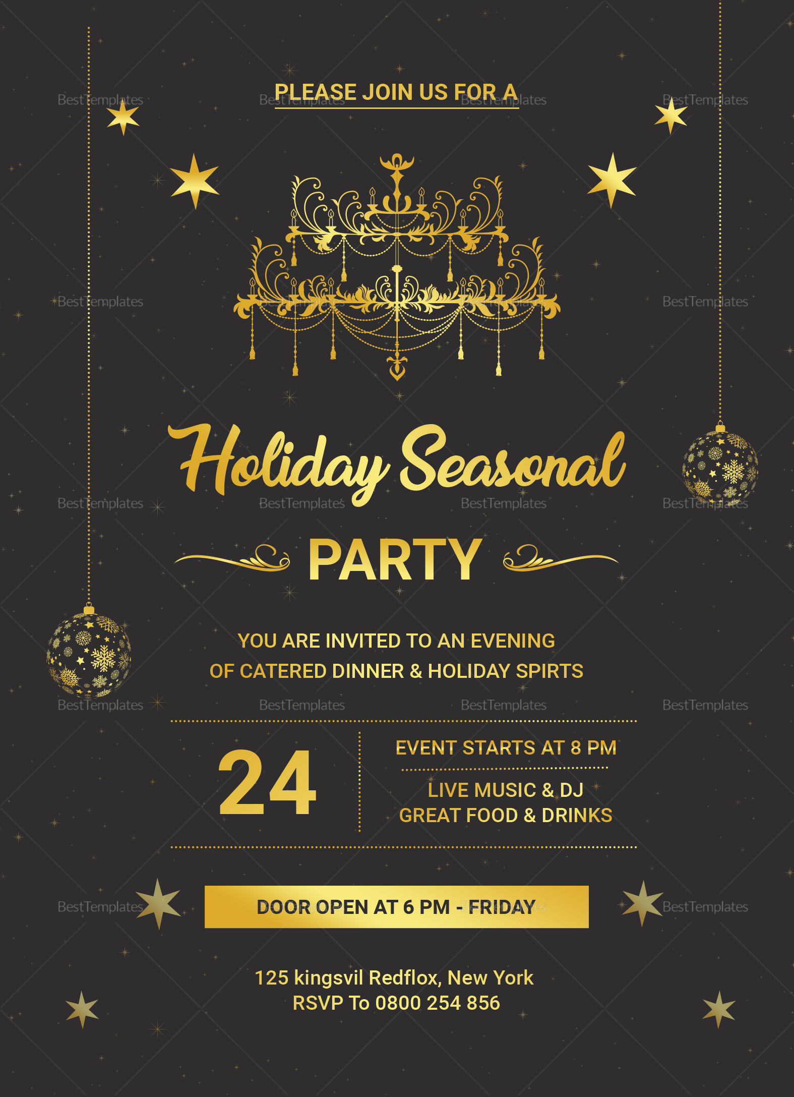 Lovely Holiday Invitation Template
