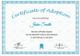 Printable Adoption Certificate Template