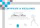 Athletic Excellence Certificate Design Template