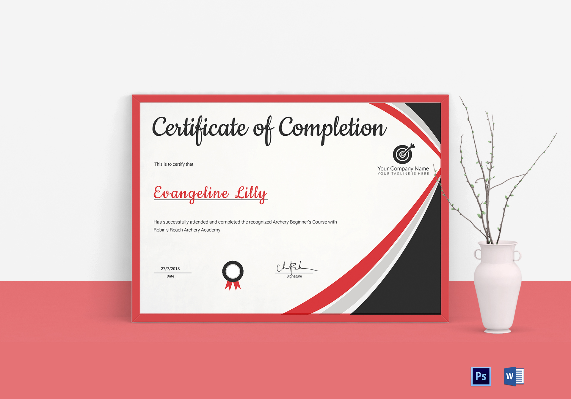 Archery Certificate Template