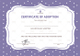 Official Adoption Certificate Template