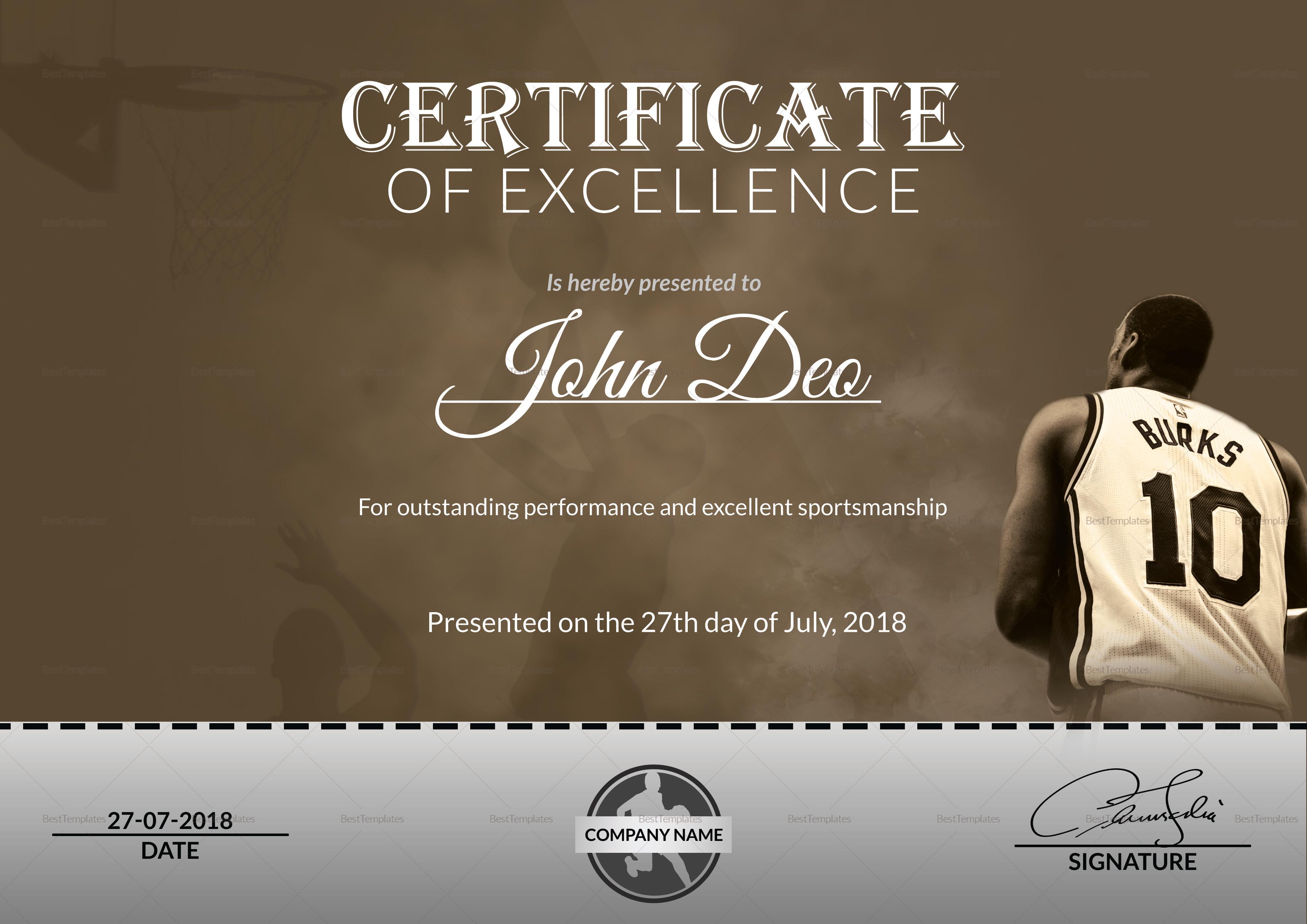 Basketball award certificate design template in word psd basketball award certificate basketball award certificate template yadclub Choice Image