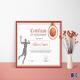 Basketball Award Achievement Certificate