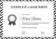 Badminton Achievement Certificate Design Template