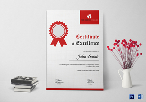 Badminton certificate designs templates in word psd badminton excellence certificate template yadclub Images