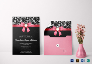 Event invitation designs templates in word psd publisher classic debut invitation card template stopboris Choice Image