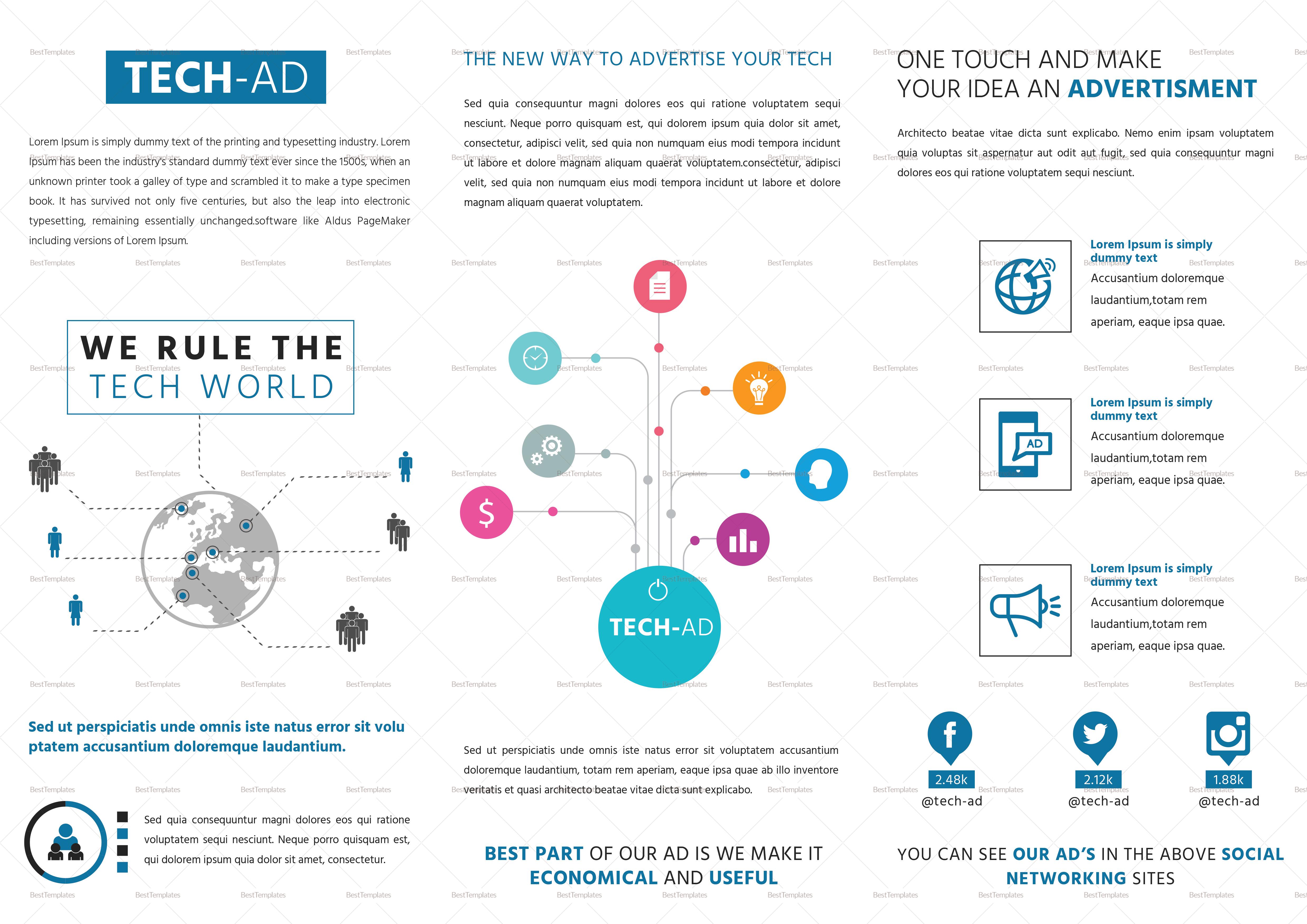 Advertising Tri Fold Brochure Template
