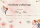 Beautiful Antique Marriage Certificate Template