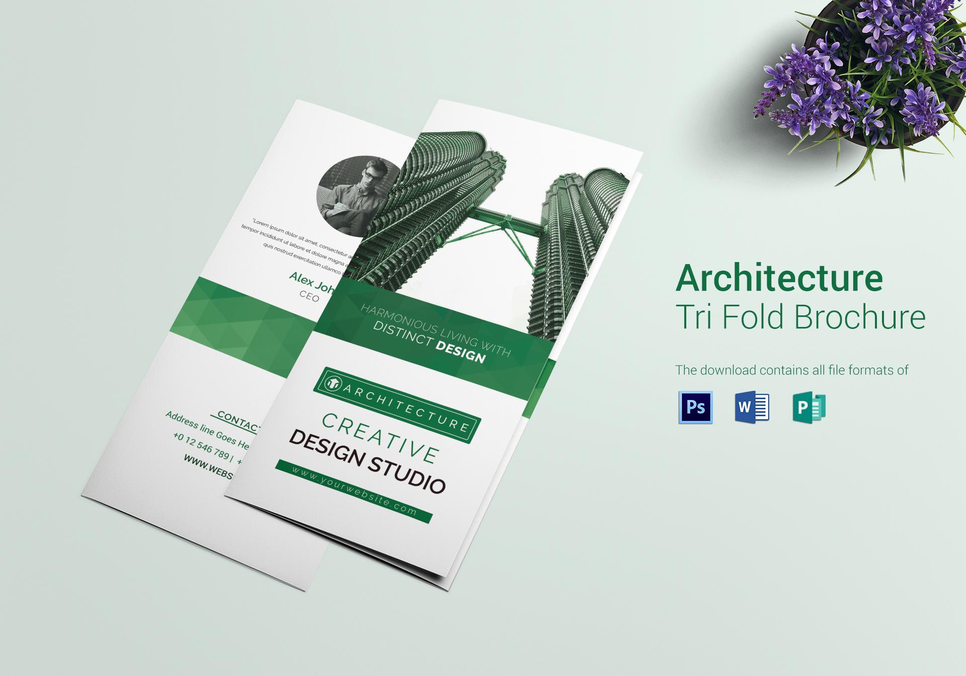 designing a tri fold brochure