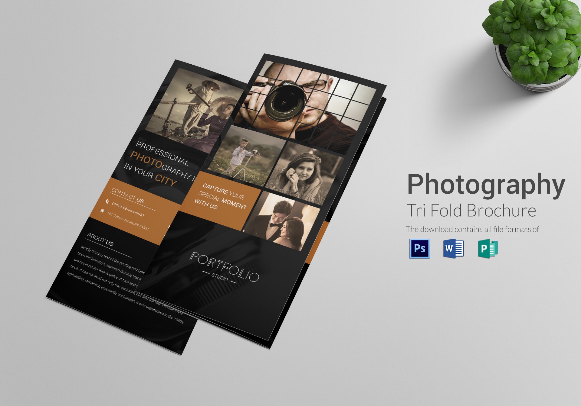 photography brochure tri