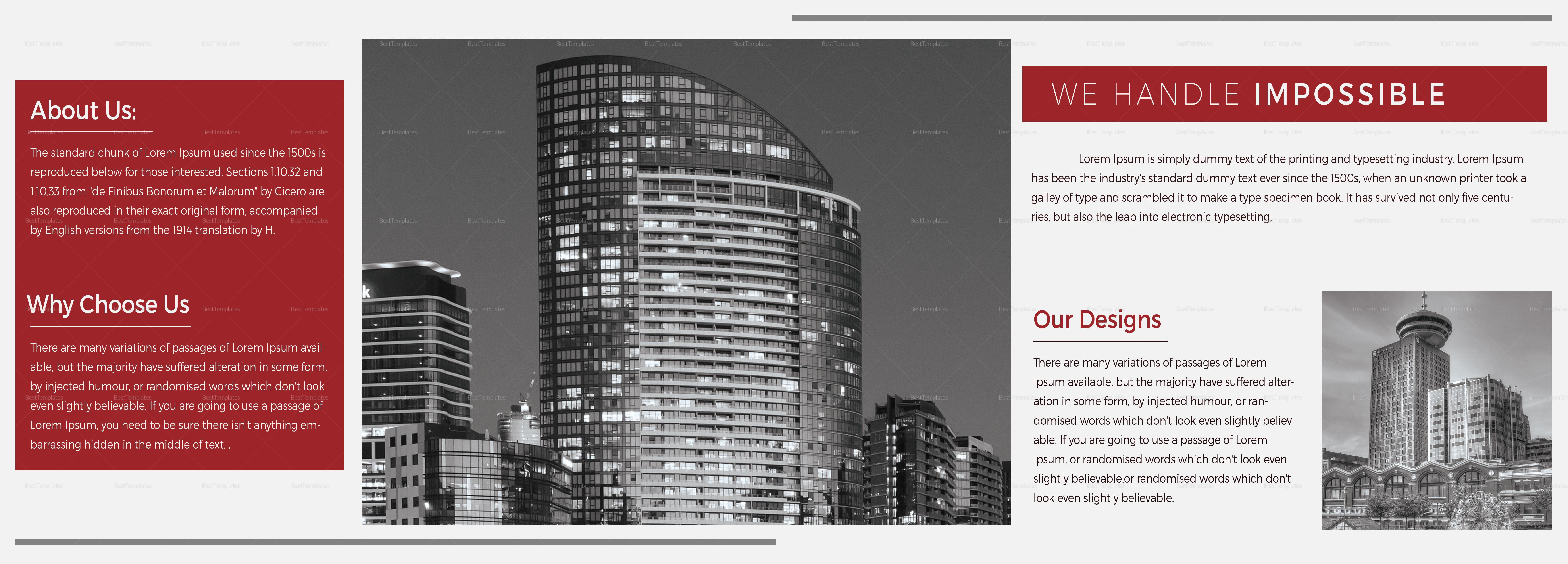 Architecture Brochure Landscape Template