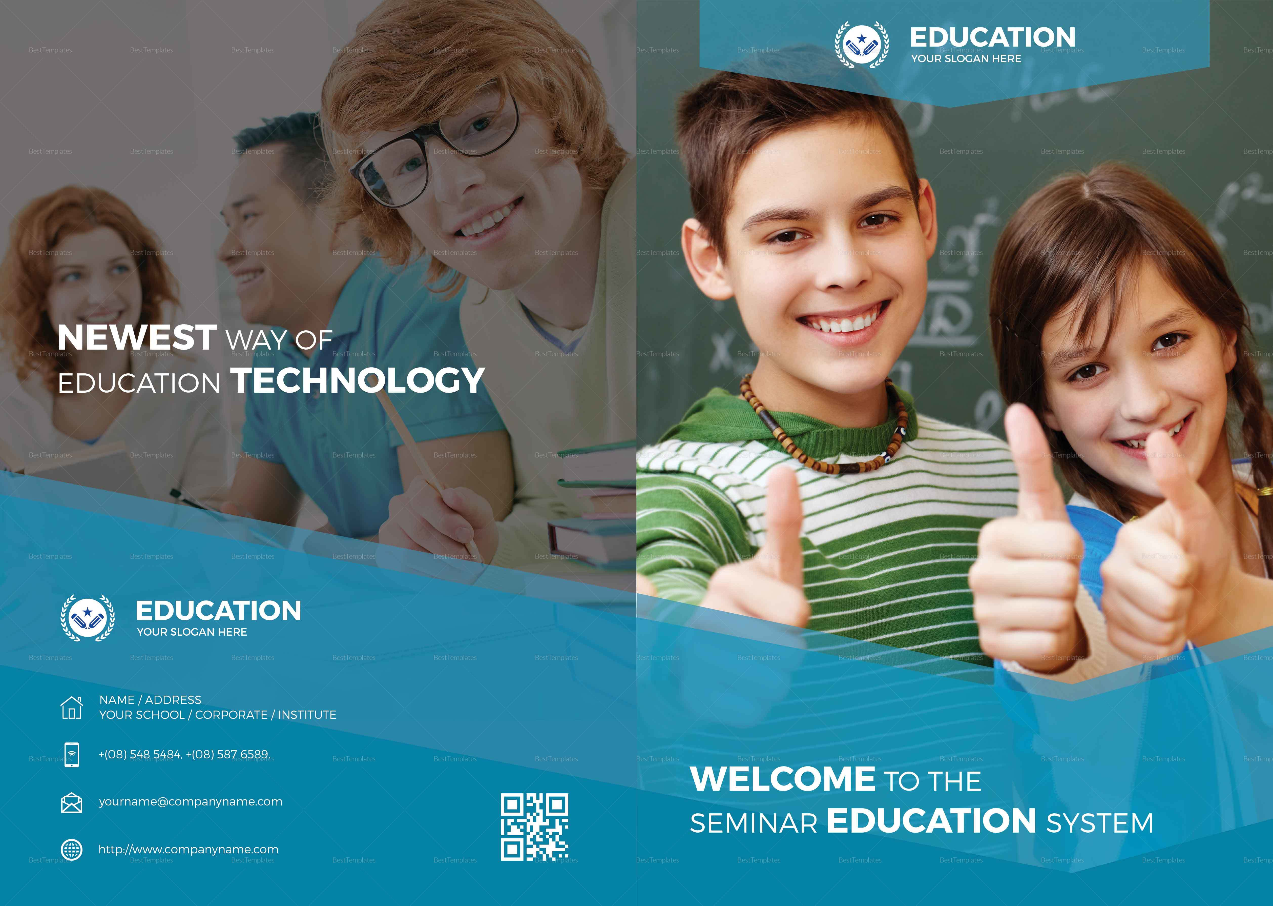Education Bi Fold Brochure Template