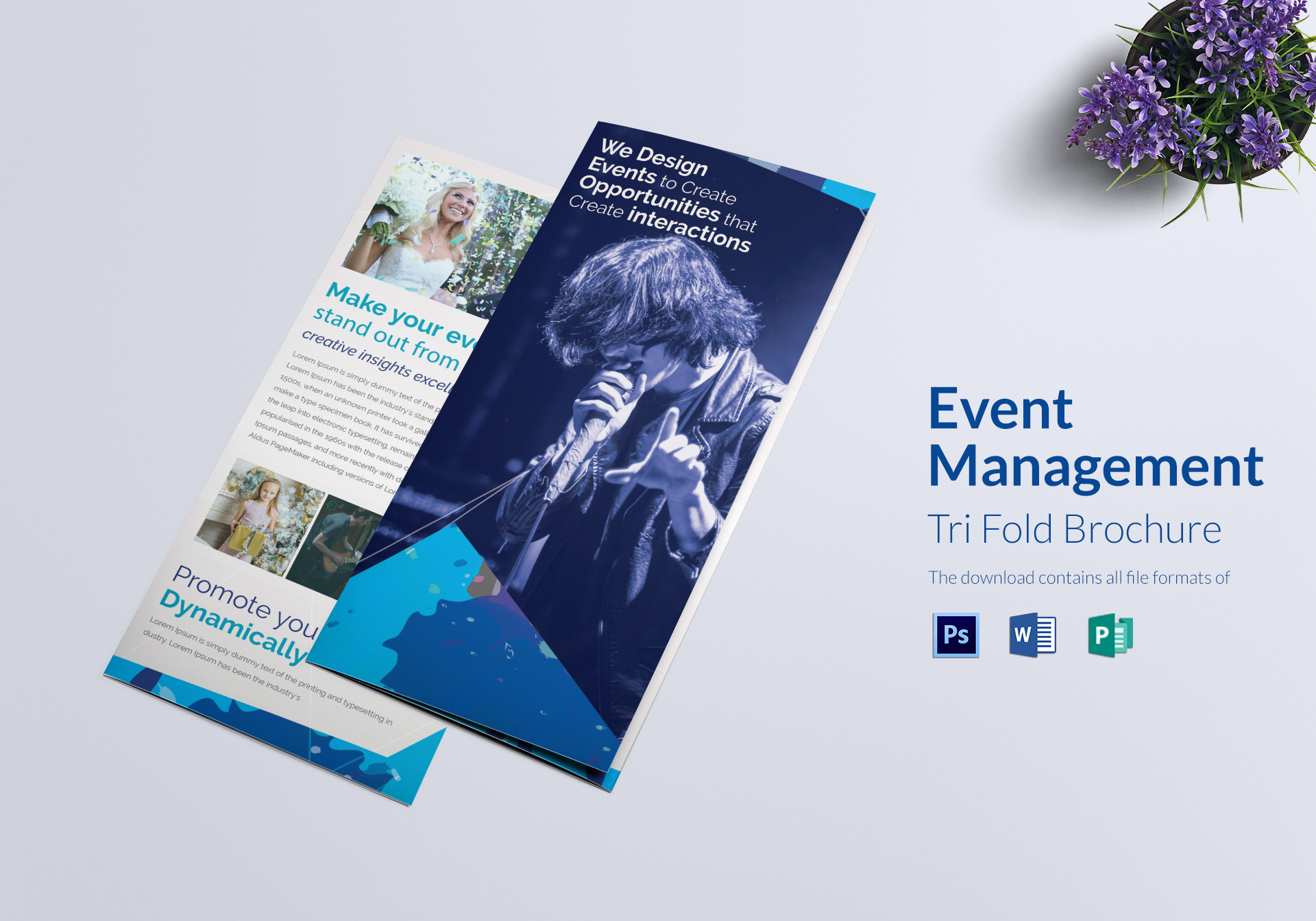 Event Management Tri Fold Brochure