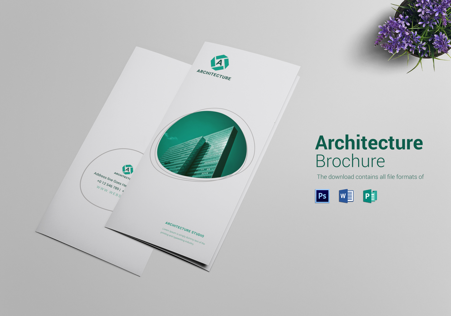 Commercial Architecture Tri Fold Brochure Design Template in PSD ...
