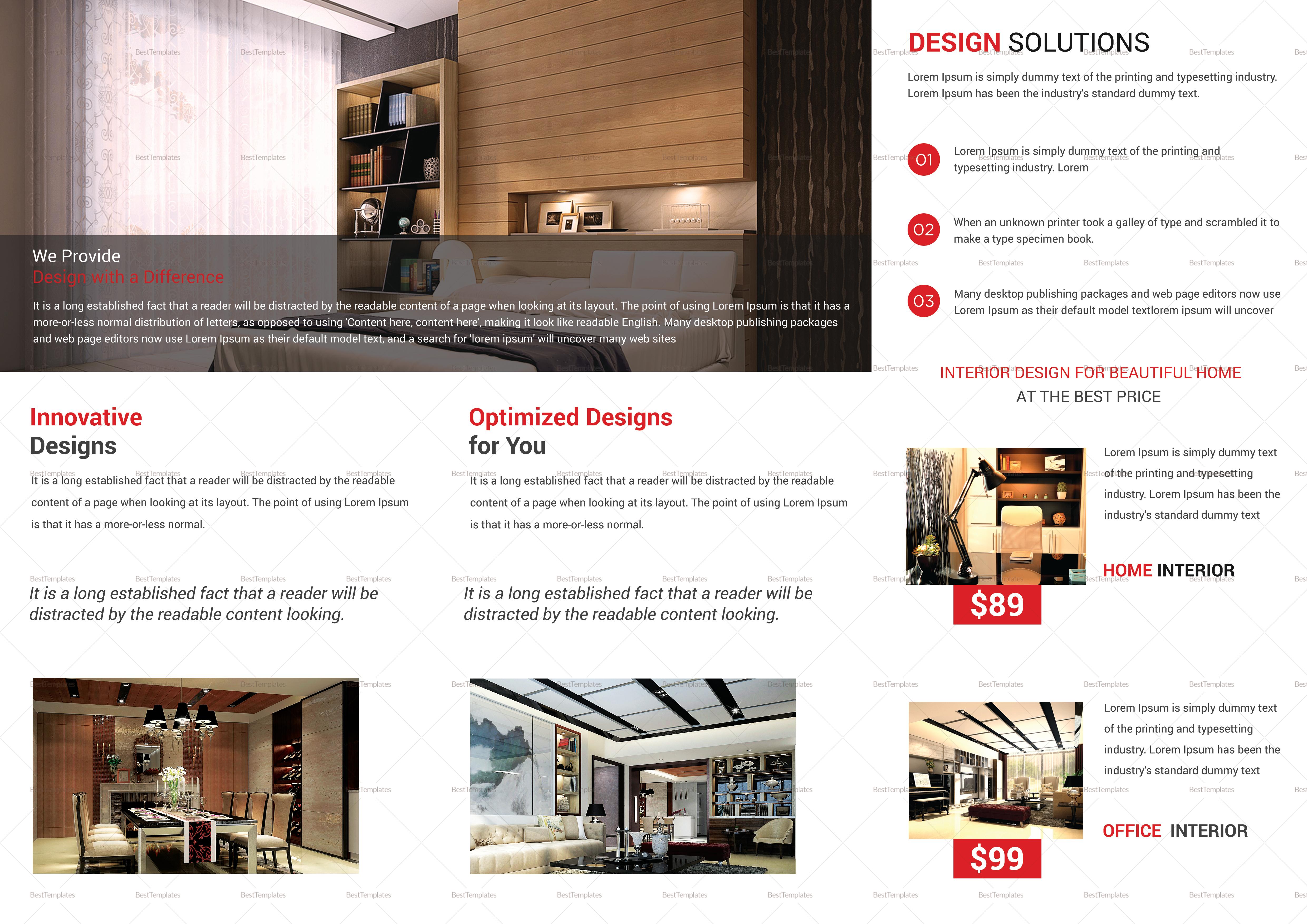 Trifold Interior Brochure Design