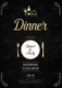 Dinner Invitation Card Design