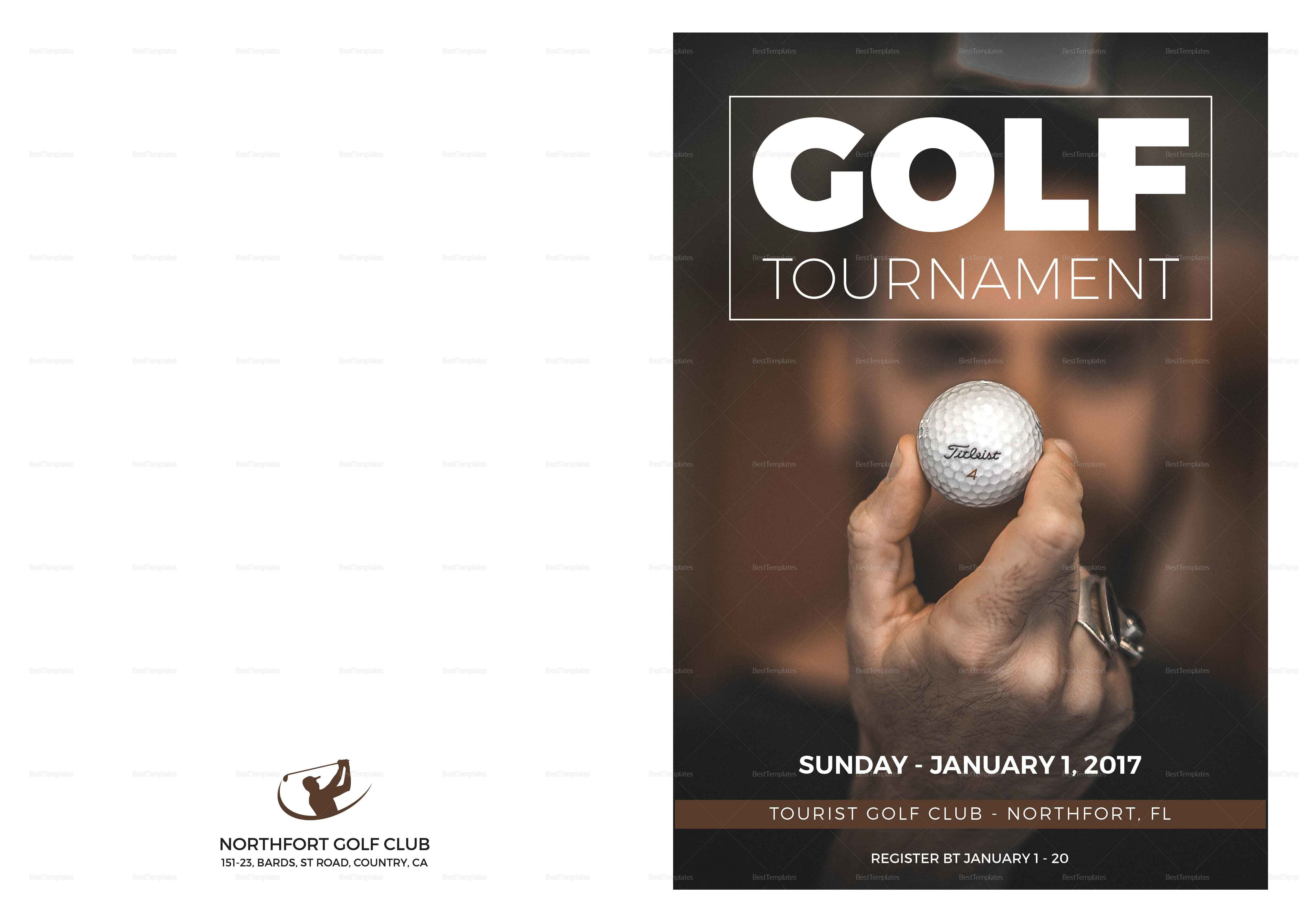 Golf Bi Fold Brochure Template