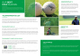 Golf Tournament Bi Fold Brochure Design Template