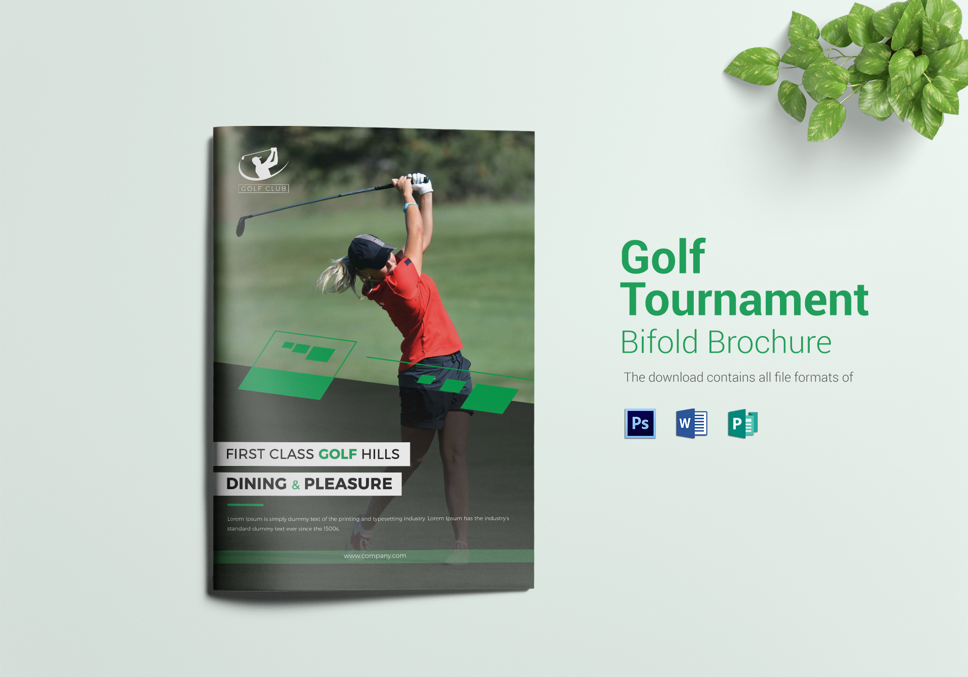 Golf Tournament Bi Fold Brochure ...