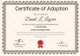 Happy Adoption Certificate Template