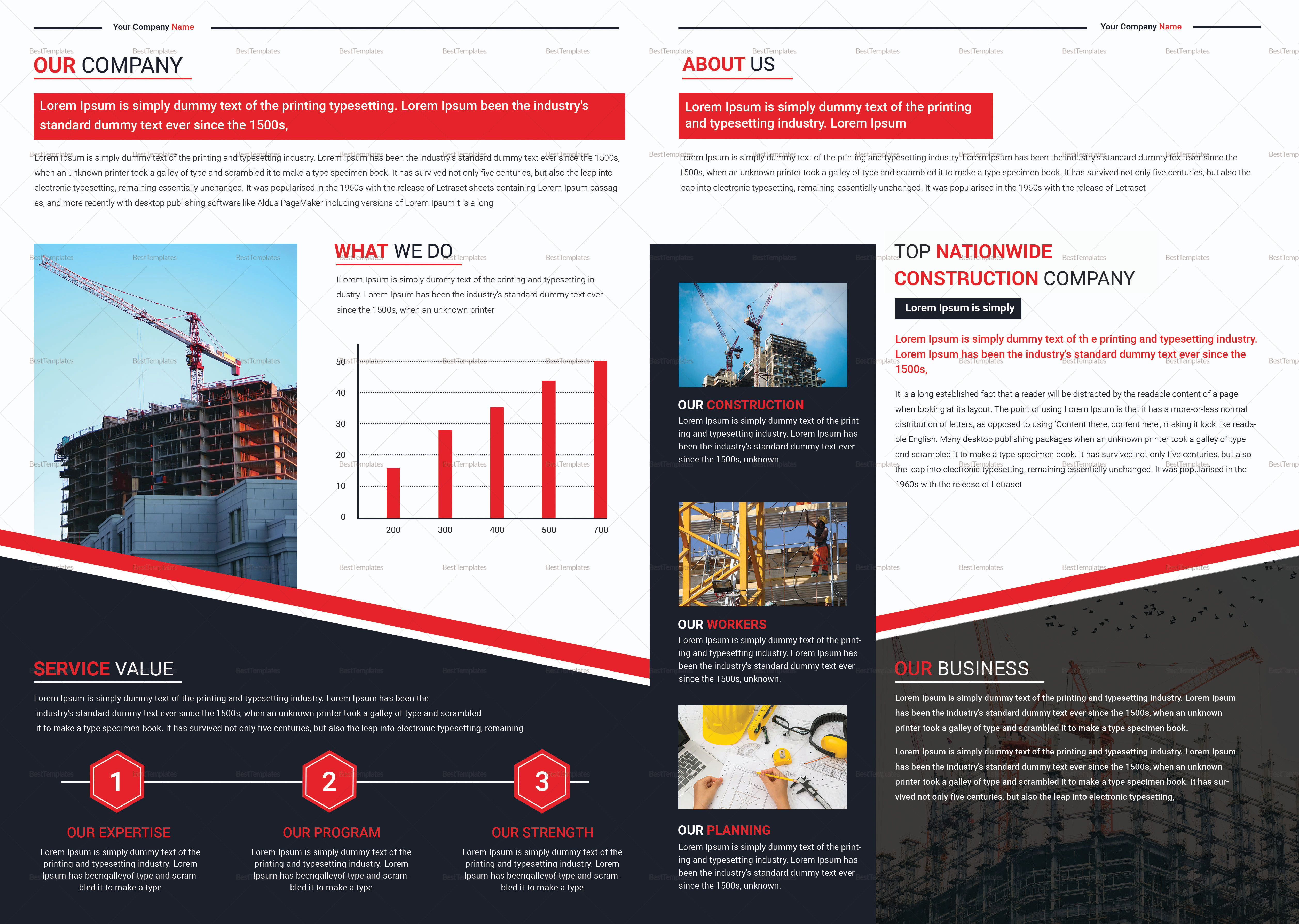 Construction Brochure Template 2