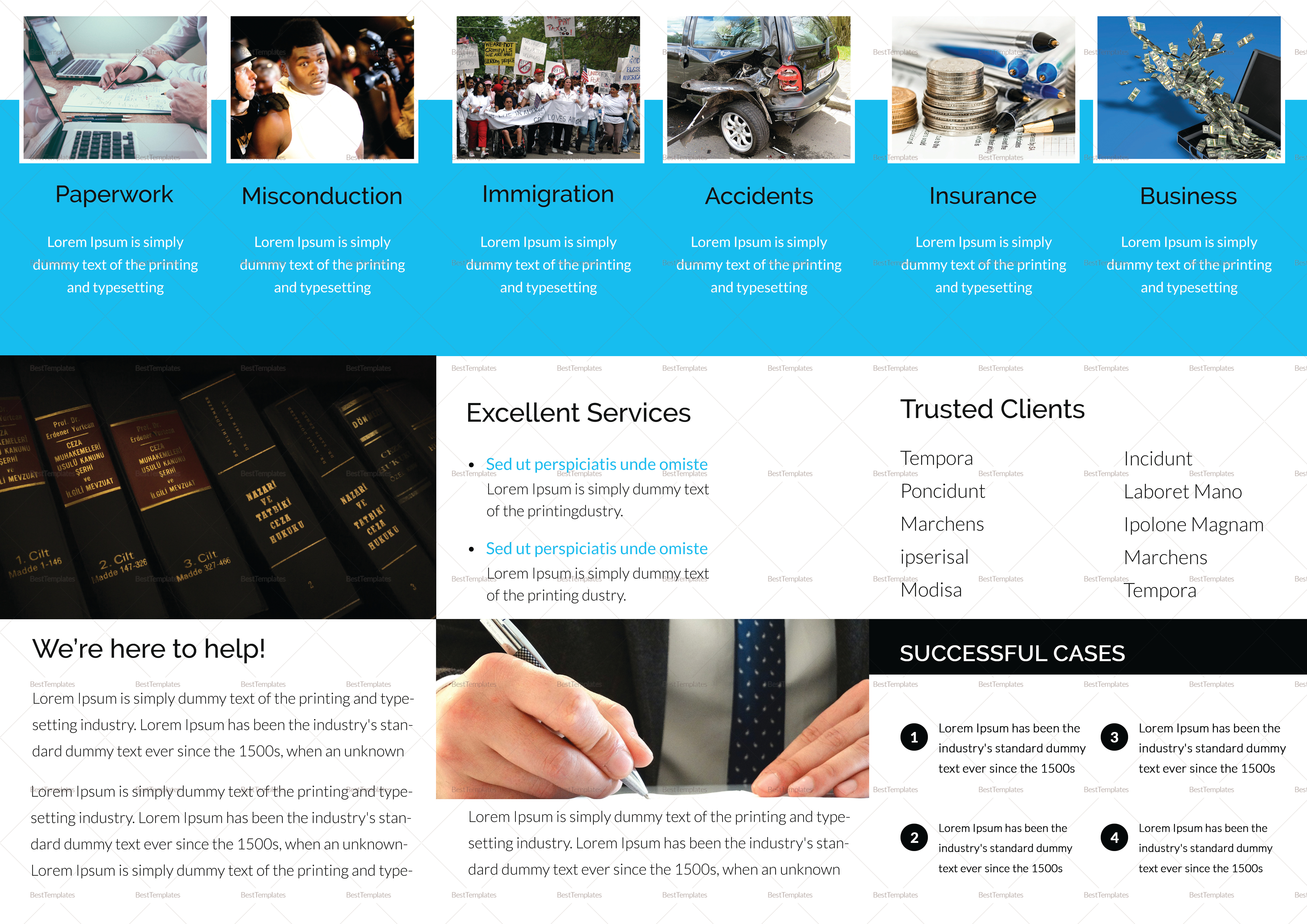 Legal Brochure Tri Fold Design Template