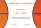 Basketball Excellence Award Certificate Template