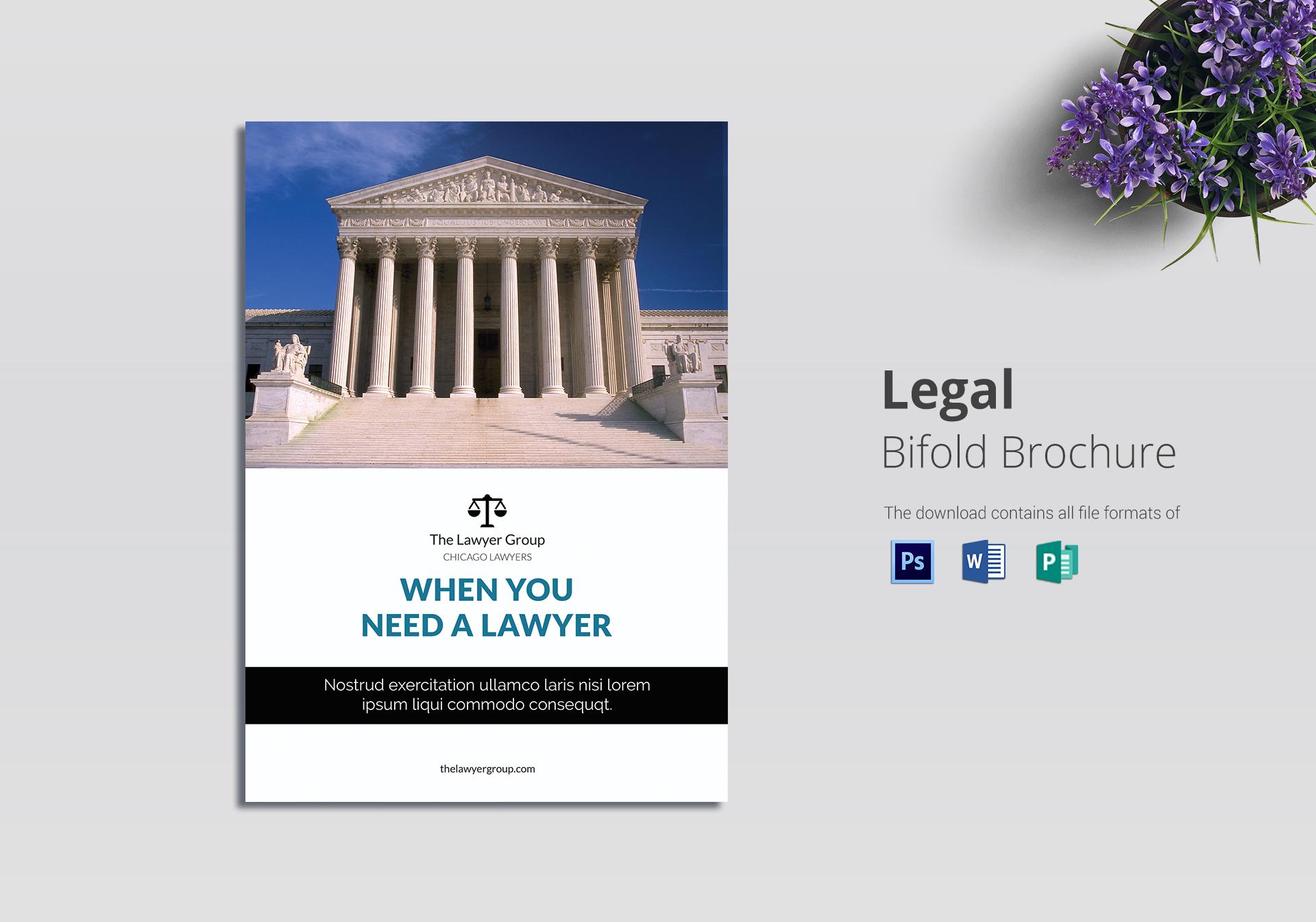 legal brochure bi fold design template in psd word publisher