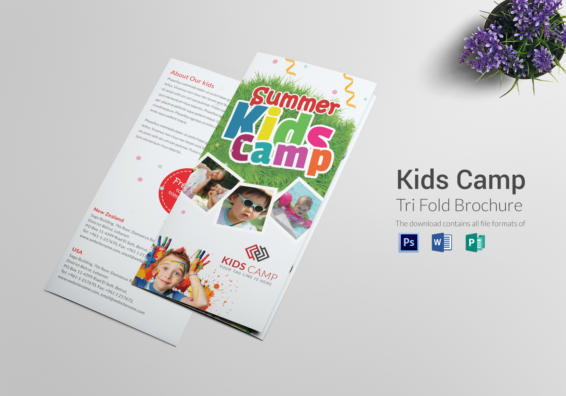 Kids Camp Tri Folding Brochure