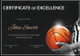 Basketball Excellence Certificate Template
