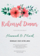 Floral Rehearsal Dinner Invitation Design