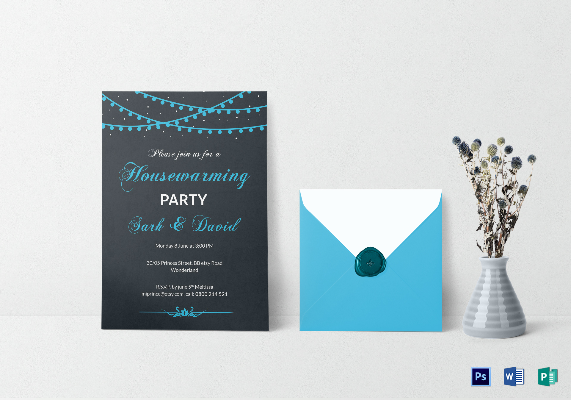 Classic Housewarming Invitation Design Template In Psd Word Publisher