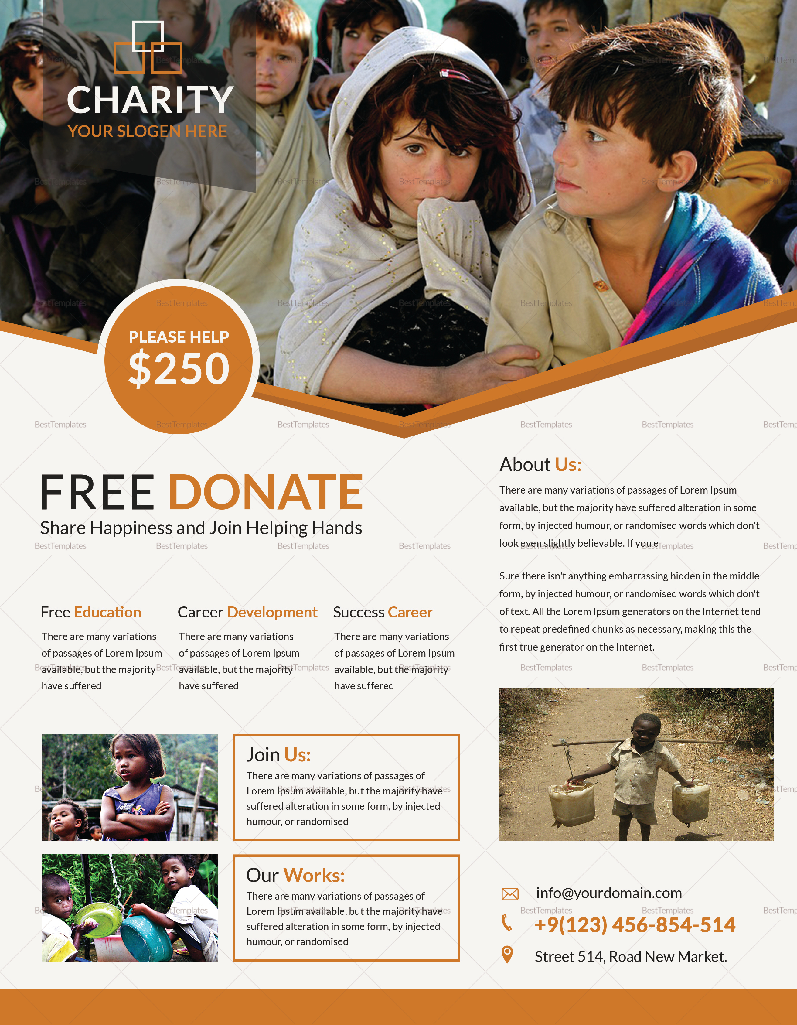 Alive Church Conference Fundraiser Flyer Template
