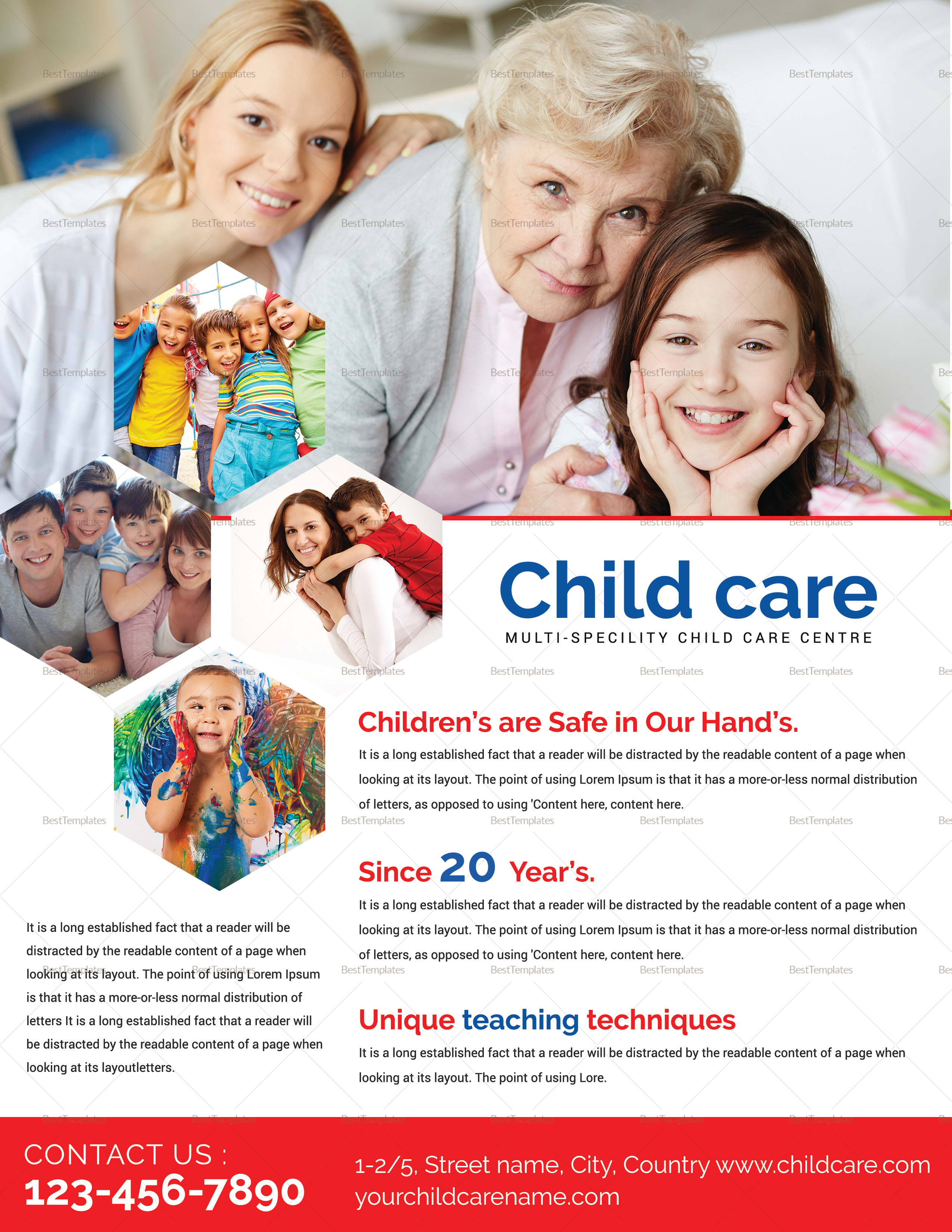 Child Care Flyer Design Template